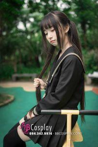 Trang Phục Nữ Sinh Thủy Thủ Nhật Đen