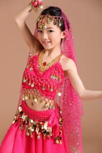 Đồ Múa Bụng Trẻ Em - Belly Dance Hồng
