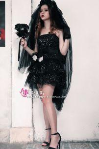 Trang Phục Cô Dâu Ma Váy Ngắn Cho Halloween