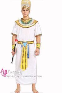 Trang Phục Vua Ai Cập Nam Màu Trắng