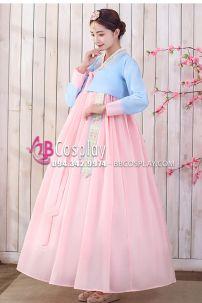 Hanbok Hàn Quốc Nữ Váy Hồng Phấn