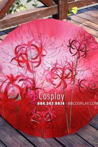 Dù Vải Cổ Trang Hoa Bỉ Ngạn Đỏ (3)
