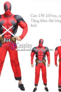 Bộ Trang Phục Deadpool Độn Cơ Bắp Tặng Đai Lưng