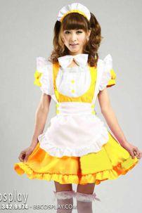 Đầm Maid Vàng Dễ Thương