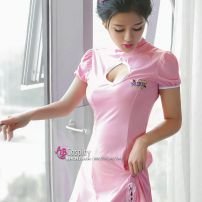 Đầm Nữ Y Tá Sexy Khoét Ngực Hồng