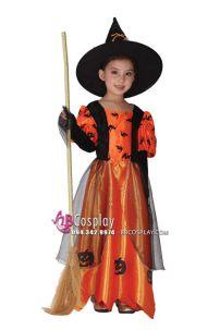 Đồ Phù Thủy Bé Gái Halloween
