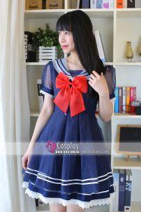 Nữ Sinh Lolita Thủy Thủ Nhật Hàng May Thanh Lí