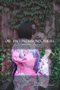 Đai Lưng Kimono Nhật Hồng