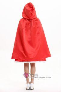 Áo Choàng Đỏ Có Nón Hàng May Vải Phi