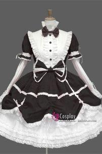 Đầm Lolita Đen Phong Cách Gothic