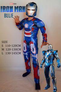 Đồ Người Sắt Xanh Iron Men Blue Cho Bé