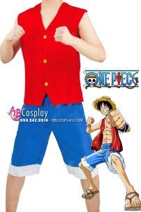 Bộ Cosplay Luffy Cơ Bản Size L 170cm