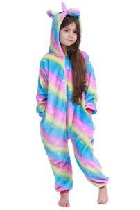 Trang Phục Ngủ Pijama Unicorn Cầu Vồng 110-120-130-140