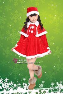 Đầm Noel Cho Bé Gái Kèm Choàng