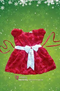 Đầm Noel Vải Nhung Trái Tim Cho Bé Từ 60cm Tới 120cm