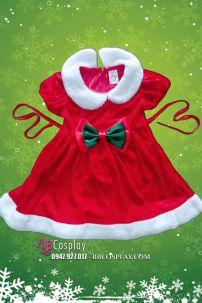 Đầm Giáng Sinh Trẻ Em (80cm Tới 120cm)