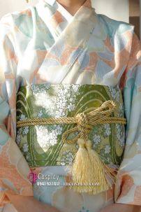 Đai Lưng Kimono Gấm Xanh Lá