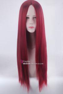 Tóc Giả Đỏ Rượu 2 Mái 80cm