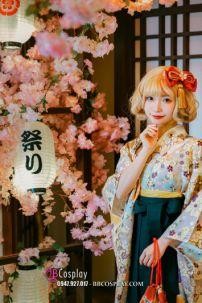 Kimono Hakama Nữ Hàng Cao Cấp