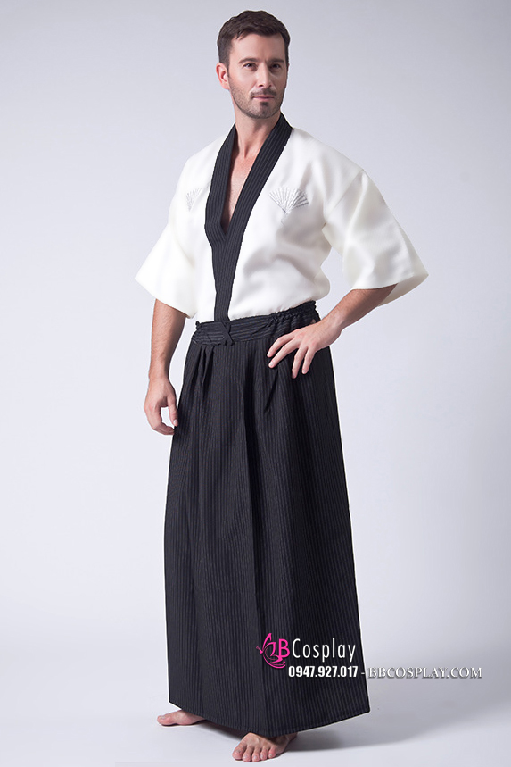 Kimono Nam Trắng