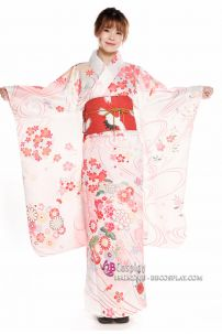 Kimono Nhật Bản Hoa Anh Đào Pastel