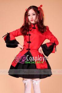 Qiloli Đỏ Váy Đen 11