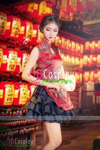 Qiloli Trung Thu Đỏ Váy Đen 20