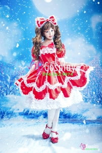 Đồ Lolita Đỏ Chất Lượng May Tại VN
