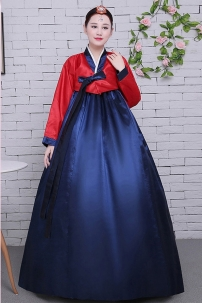 Hanbok Áo Đỏ Váy Xanh