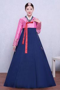 Hanbok Áo Hồng Váy Xanh Có Tuarua 50