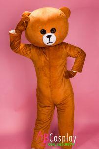 Trang Phục Mascot Gấu Brown