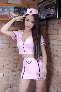 Đồ Nữ Tiếp Viên Hàng Không Sexy Hồng