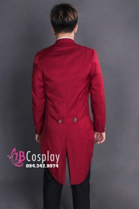 Áo Vest Tuxedo Màu Đỏ Đô