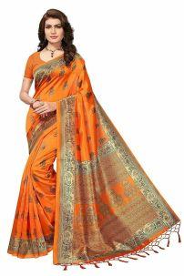 Saree Trang Phục Ấn Độ Cam Cà Rốt- Đồ Ấn Độ Cam Cà Rốt