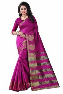 Sari Ấn Độ - Trang Phục Ấn Độ Hồng 3 - Đồ Ấn Độ Cam 3