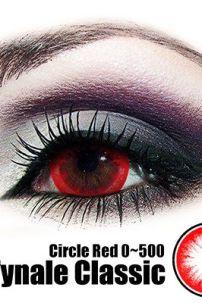 Kính Áp Tròng Đỏ - Red Circle