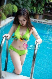 Trang Phục Bơi Bikini Xanh Mino