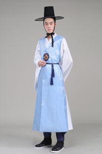 Hanbok Gấm Nam Xanh Lơ (Hanbok Cổ Trang)