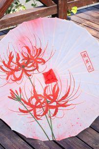 Ô Vải Cổ Trang Hồng Hoa Bỉ Ngạn (7)