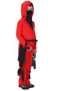 Trang Phục Hóa Trang Ninja Đỏ Cho Bé Trai 9829